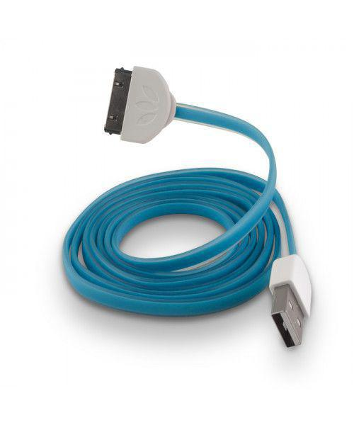 USB Cable Silicone blue για iPhone 3G / 3GS / 4 /4S