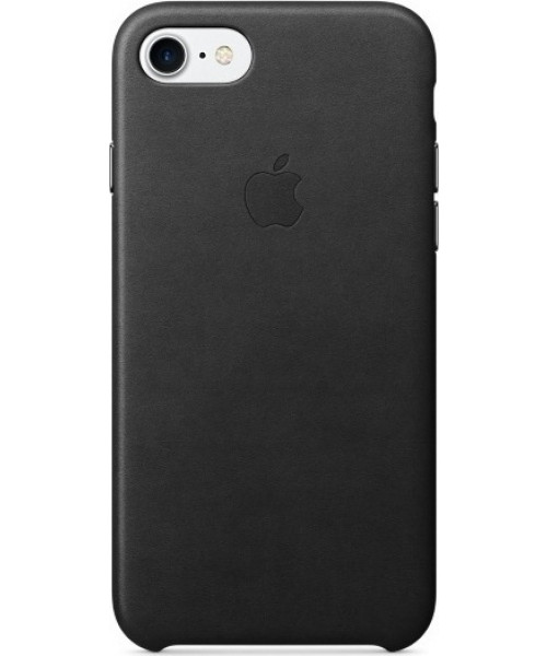 Apple iPhone 7 Original Leather Case MMY52ZM Black ( Δερμάτινη)