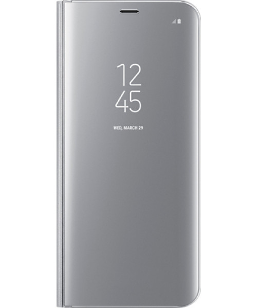 Samsung Original EF-ZG955CSEGWW Clear View Cover Galaxy S8 Plus Silver