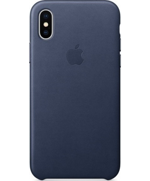 Apple iPhone X MQTC2ZM Original Leather Case Midnight Blue