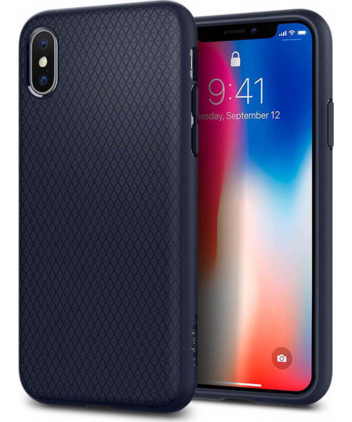 Spigen Liquid Air Case 057CS22124 iPhone X Midnight Blue