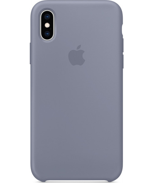 Apple Original MTFC2ZM Silicone Case iPhone XS / iPhone X Lavender Gray