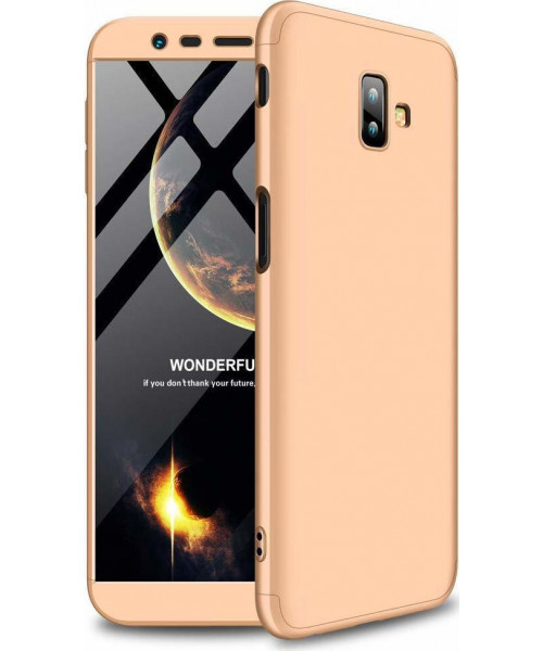 Θήκη OEM 360 Protection front and back full body για Samsung Galaxy J6 PLUS J610 gold
