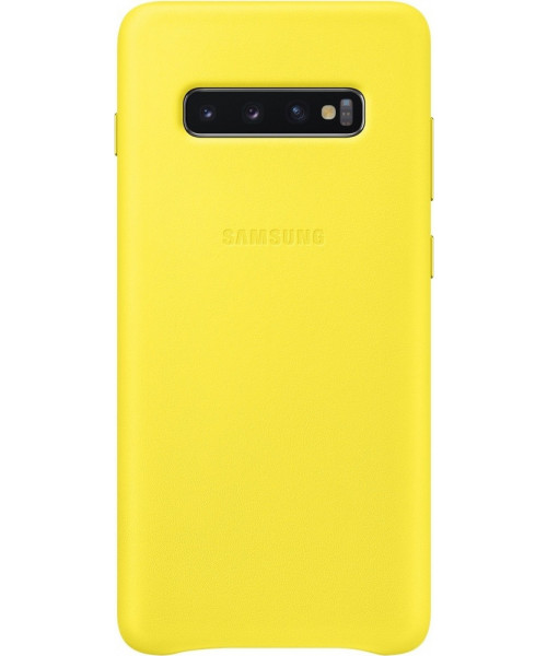 Samsung Original EF-VG975LYEGW Leather Cover Galaxy S10 Plus Yellow