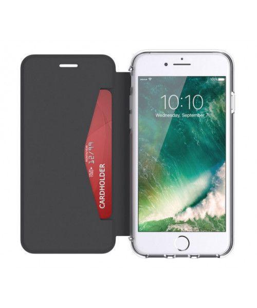 Griffin Reveal Wallet Case για Apple iPhone 7 Plus/6 Plus/6s Plus μαύρο διαφανές GB42754