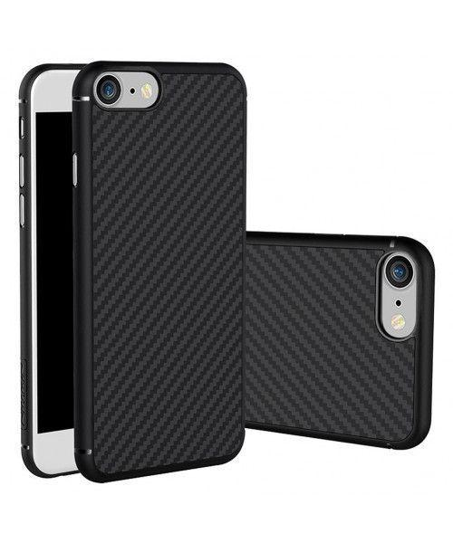 Θήκη Nillkin Synthetic Fiber Protective Hard Carbon iPhone 7 μαύρου χρώματος