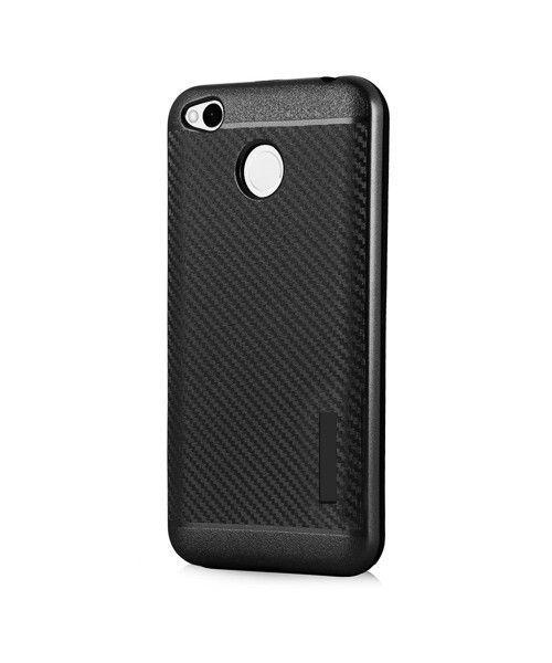 Θήκη OEM Carbon Slim Armor Hybrid Case Rugged Cover Xiaomi Redmi 4X μαύρου χρώματος