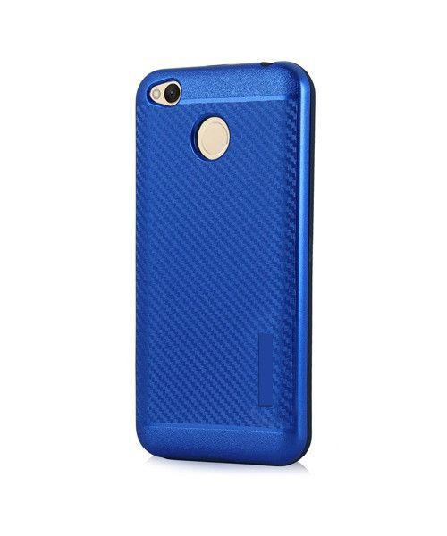 Θήκη OEM Carbon Slim Armor Hybrid Case Rugged Cover Xiaomi Redmi 4X μπλε χρώματος