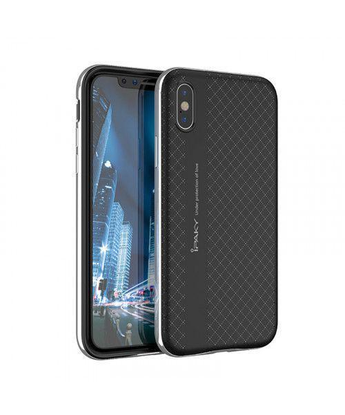 Θήκη iPaky Bumblebee Neo Hybrid cover with PC Frame για iPhone X silver