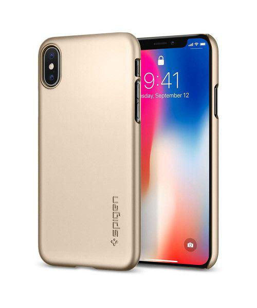 Spigen Thin Fit for iPhone X Champagne Gold 057CS22111
