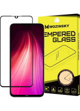 Wozinsky Tempered Glass Full Glue Full Coveraged with Frame Case Friendly for Xiaomi Redmi Note 8 black
