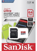 Sandisk Ultra microSDXC 64GB U1 A1 With Adapter