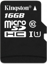 Kingston 16GB MicroSDHC Card - Class 10 UHS-I SDC10G2/16GBSP
