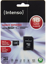 Intenso microSDHC 16GB Class 10 with Adapter