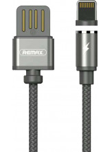 Remax Gravity RC-095i Magnetic USB / Lightning Cable with LED Light 1M 2.1A black
