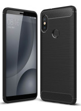 Θήκη OEM Brushed Carbon Flexible Cover TPU για Xiaomi Redmi Note 5 μαύρου χρώματος