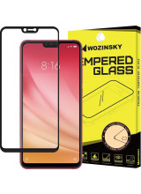 Wozinsky Tempered Glass Full Glue Super Tough  Full Coveraged with Frame Case Friendly for Xiaomi Mi 8 Lite black