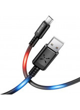 Usams SJ288 Data Cable microUSB Voice Control LED Black