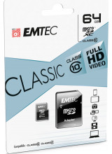 Emtec Classic microSDXC 64GB Class 10 with Adapter