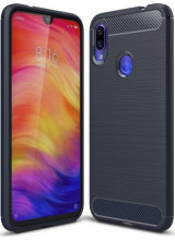 Θήκη OEM Brushed Carbon Case Flexible TPU για Xiaomi Redmi Note 7 blue