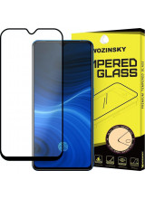 Wozinsky Tempered Glass Full Glue Super Tough Full Coveraged with Frame Case Friendly for Realme X2 Pro black