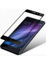 Tempered Glass Screen Protector Πλήρους Κάλυψης με πλαίσιο PET για Xiaomi Redmi Note 4 black