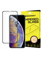 Wozinsky Tempered Glass Full Glue Super Tough Full Coveraged with Frame Case Friendly for Apple iPhone 11 Pro / iPhone XS / iPhone X black