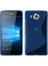 Θήκη TPU S-Line για MIcosoft Lumia 950XL blue