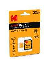 Κάρτα Μνήμης Kodak microSDHC 32gb Class 10 with Adapter ( EKMSDM32GH )