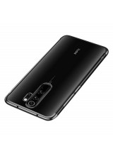 Clear Color Case Gel TPU Electroplating frame Cover for Xiaomi Redmi 9 black