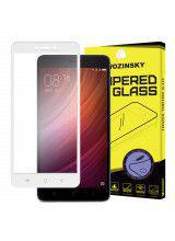Tempered Glass Screen Protector Πλήρους Κάλυψης με πλαίσιο PET για Xiaomi Redmi Note 4X white