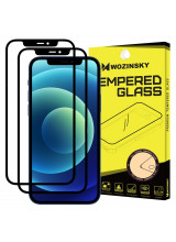 Wozinsky Tempered Glass Full Glue Full Coveraged with Frame Case Friendly for iPhone 12 Pro Max black (2 ΤΕΜΑΧΙΑ)