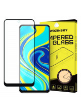 Wozinsky Tempered Glass Full Glue Super Tough Full Coveraged with Frame Case Friendly for Xiaomi Redmi Note 9 Pro / Redmi Note 9S black