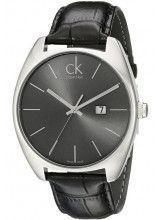 Calvin Klein Exchange Black Dial and Leather Strap - K2F2110