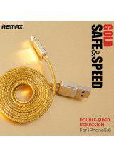 Remax Safe and Speed Data Cable 1m Gold for iPhone 5/5S/6/6 Plus