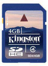 Kingston SDHC 4GB Class 4