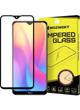 Wozinsky Tempered Glass Full Glue Super Tough  Full Coveraged with Frame Case Friendly for Xiaomi Redmi 8A black