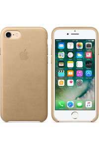 Apple iPhone 7 Original Leather Case MMY72ZM Tan ( Δερμάτινη)