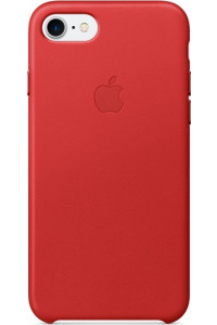 Apple iPhone 7 Original Leather Case MMY62ZM Red ( Δερμάτινη)