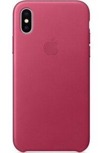Apple iPhone X MQTJ2ZM Original Leather Case Pink Fuchsia