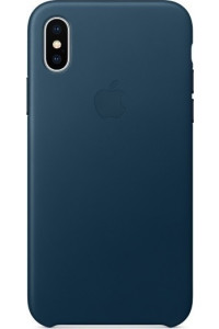 Apple iPhone X MQTH2ZM Original Leather Case Cosmos Blue