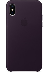 Apple iPhone X MQTG2ZM Original Leather Case Dark Aubergine