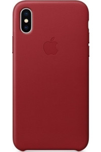 Apple iPhone X MQTE2ZM Original Leather Case Red