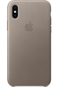 Apple iPhone X MQT92ZM Original Leather Case Taupe