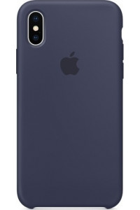 Apple iPhone X MQT32ZM Original Silicon Case Midnight Blue