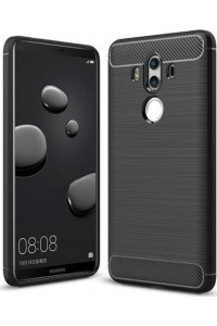 Θήκη OEM Brushed Carbon Flexible Cover TPU for Huawei Mate 10 Pro μαύρου χρώματος