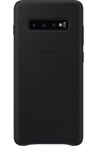 Samsung Original EF-VG975LBEGW Leather Cover Galaxy S10 Plus black