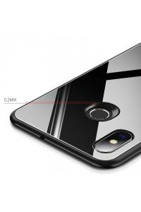 MSVII Tempered Glass Case Durable Cover with Tempered Glass Back Xiaomi Mi 8 SE black