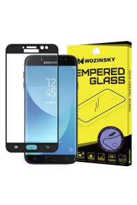 Tempered Glass Screen Protection Πλήρους Κάλυψης πλαίσιο PET για Samsung Galaxy J7 2017 J730 black