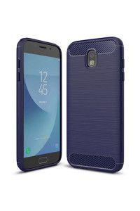 Θήκη OEM Brushed Carbon Flexible Cover TPU Case for Samsung Galaxy J7 2017 J730 μπλε χρώματος